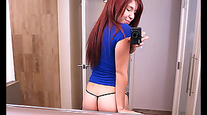 Red-headed Latina was fucked by cameraguy