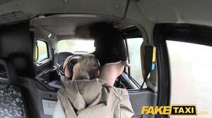 Blonde reporter got analyzed by fake taxi driver
