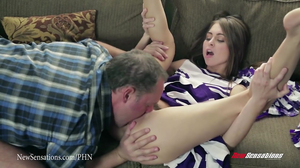 Teen cheerleader Riley Reid fucked hard by her stepdad