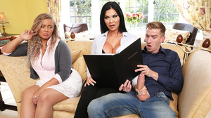 Jasmine Jae enjoys Danny's Long dick on the couch