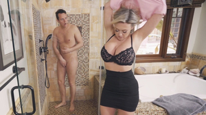 Dee Williams fucks her stepson hard in the bathroom