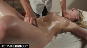 Cheating wife Adira Allure gets a hot oily pussy massage