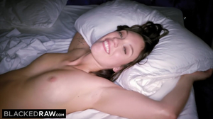 Jade Nile gets a massive black cock into her hairy pussy