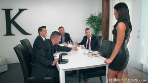 Sexy Adriana Chechik gangbanged in the office