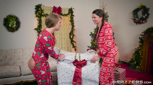 Allie Haze and Harley Jade gets a big dick for Christmas