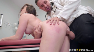 Pervy doctor with big cock fucks patient with big tits