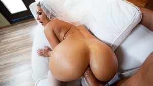 Curvy bride with amazing tits gets fucked by big cock